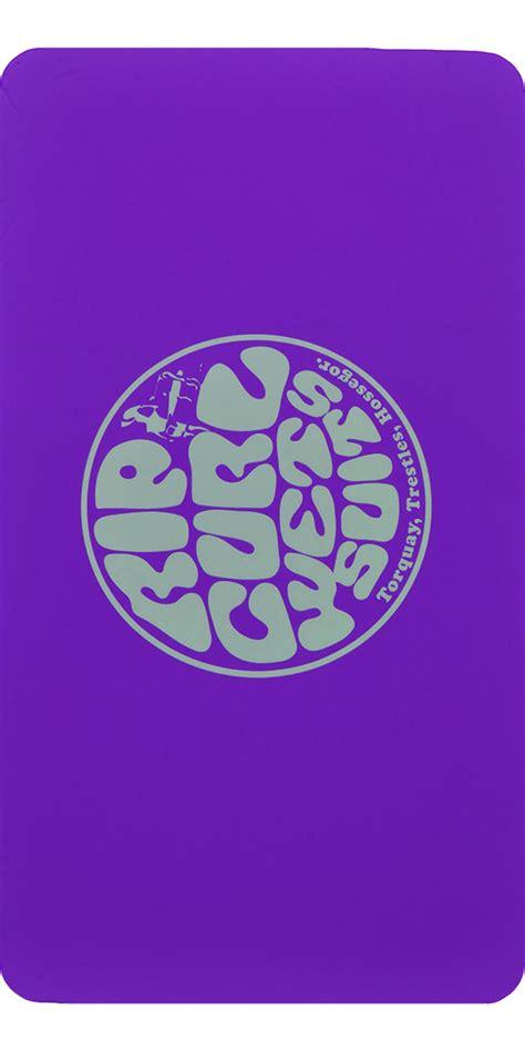 rip curl neoprene wetty change mat boot liner purple