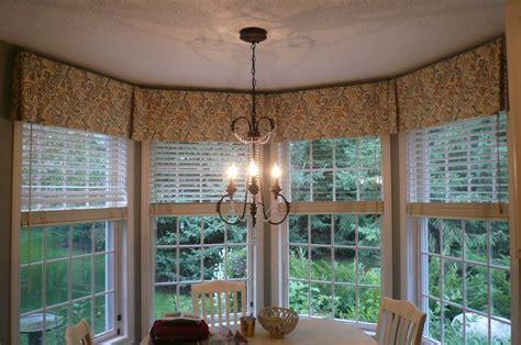 bay window valance curtains bays window