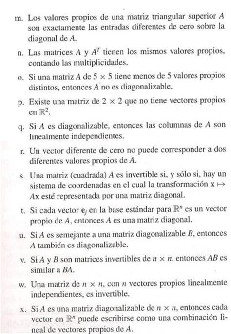 preguntas y respuestas verdadero o falso preguntas de falso y verdadero sobre diagonalizaci 243 n
