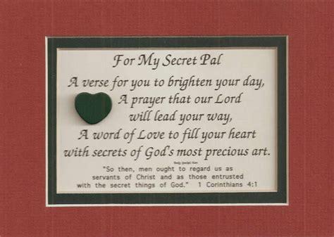 my secret sister secret pal verses poems christian friend plaques prayer great quotes christian