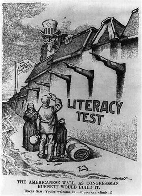 political cartoons on immigration immigration propaganda us 1900 s literacy test google