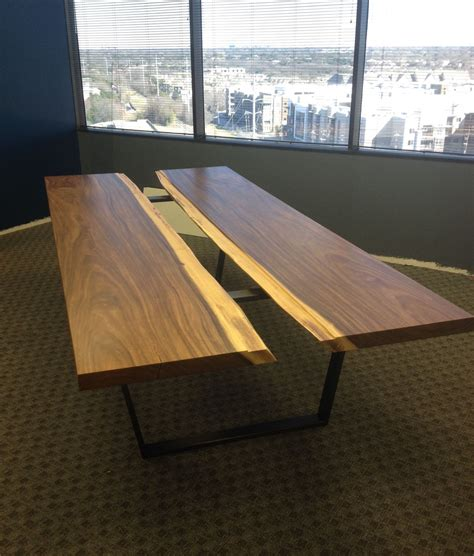 Industrial Conference Table Custom Modern Contemporary Industrial Conference Table By Aaron Smith Woodworker Custommade