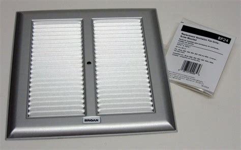 bathroom fan grill bp24 broan bath bathroom ceiling fan grille grill cover metal silver color ebay