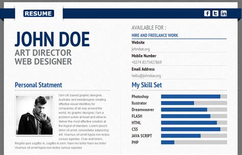 design cv using html 25 best resume cv html templates designmaz