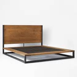 West Elm Platform Bed Industrial Platform Bed West Elm