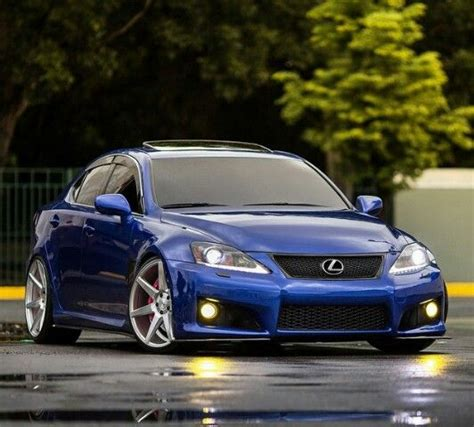 lexus isf silver lexus isf vossen stance clean car blue voitures