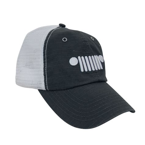 jeep hat all things jeep jeep grille logo mesh back cap in
