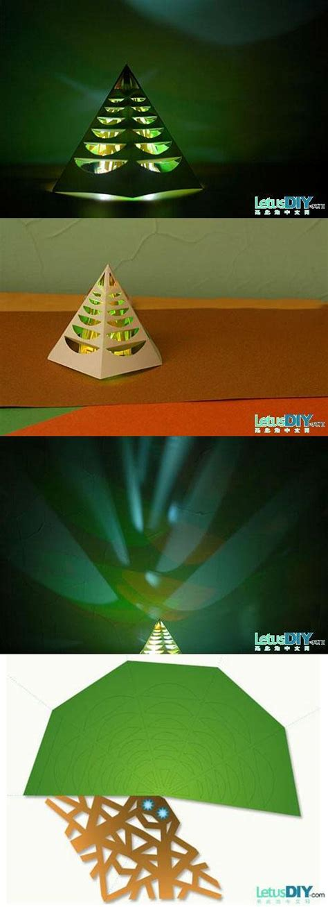 how to make glowing christmas tree step by step diy