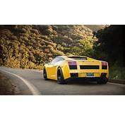 Yellow Lamborghini On Ride Wallpapers