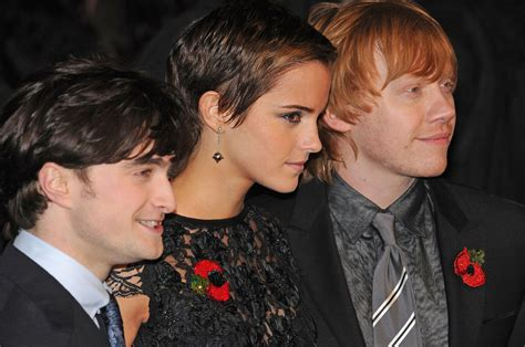 emma watson rupert grint daniel radcliffe photos photos stars at the quot harry
