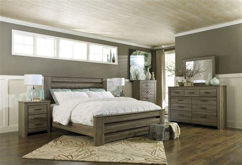 zelen pc panel bedroom set  warm gray