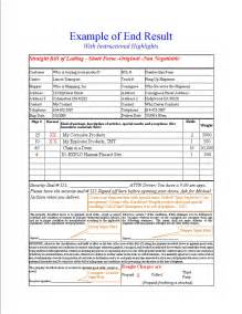 free online bill of lading