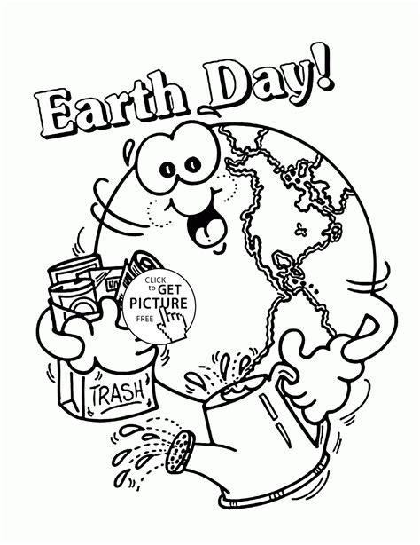 happy earth earth day coloring page for kids coloring