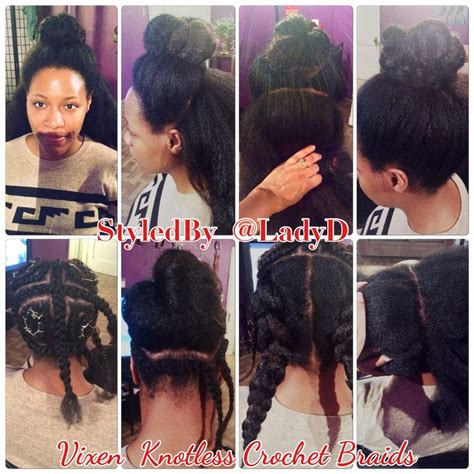 4 section sew in knotless crochetbraids using the quot vixen sew in quot method