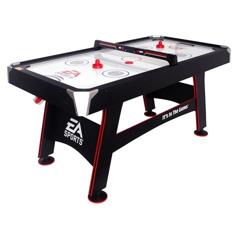 ea sports air hockey table reviews 66 quot ea sports air powered hockey