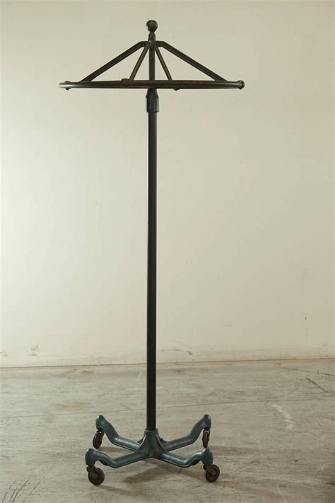 industrial top rolling coat rack at 1stdibs