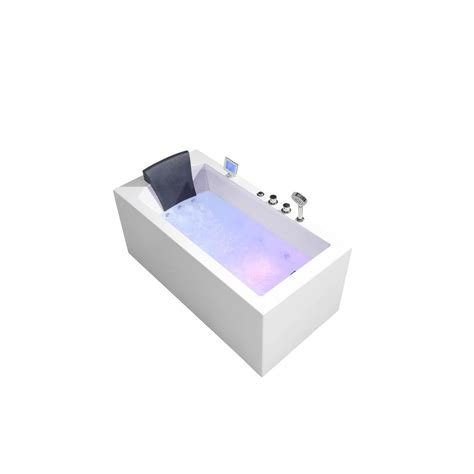 alcove whirlpool bathtub ariel platinum 59 in acrylic right drain rectangular
