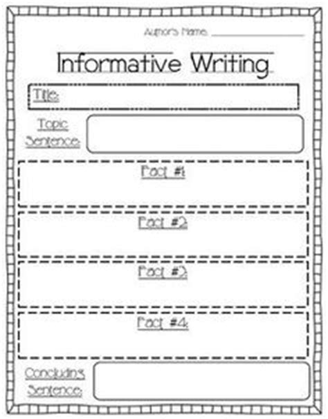 printable graphic organizer for informational writing first grade informational writing organizer writing