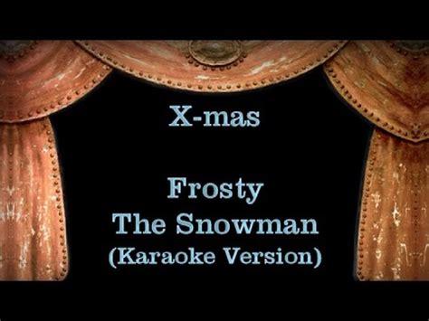 frosty snowman lyrics printable version frosty the snowman lyrics karaoke version youtube