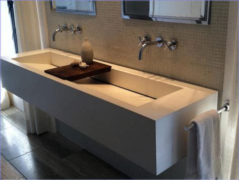 bathroom sink with two faucets trough bathroom sink with two faucets bathroom home