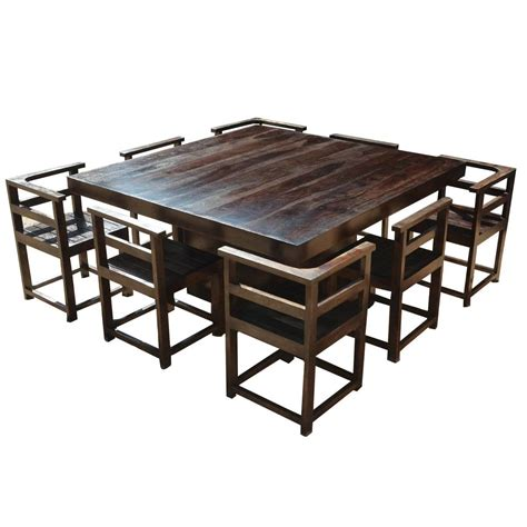 rustic square dining table modern rustic solid wood 64 square pedestal dining table