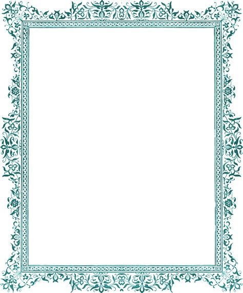 border clipart clip borders z31 coloring page