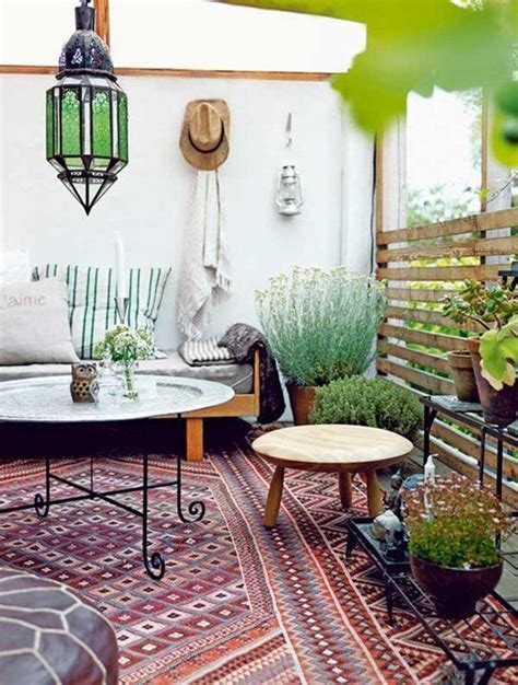 outside home decor small and cozy bohemian outdoor spaces house design and