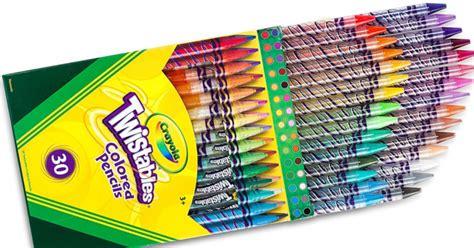 crayola 30 count twistable colored pencils crayola twistable colored pencils 30 count stock up for