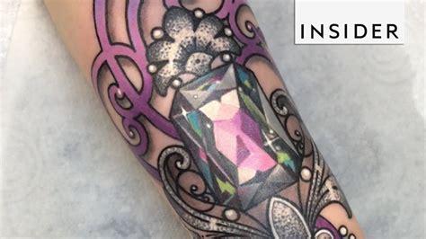 crystal and gemstone tattoos youtube