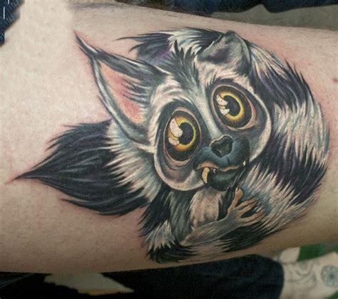 extreme tattoo münchen beautiful colorful lemur tattoo on thigh tattooimages biz