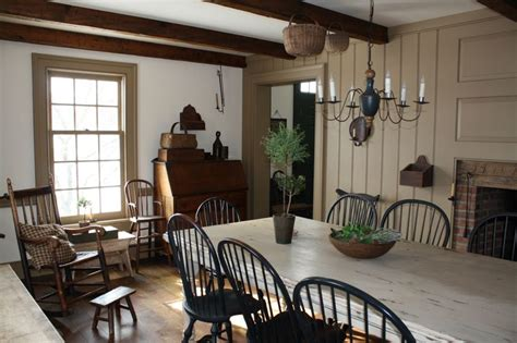 farmhouse interior note how the doors windows and trim were painted in the colonial era