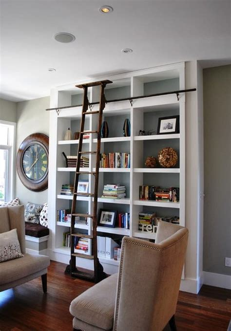 Bookcases With Ladder Ladders An Interior D 233 Cor Element With Lots Of Versatility