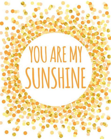 free printable wall art yellow love quote you are my sunshine print nursery printable