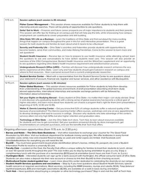 Sle Schedule For Freshman Orientation Free Download Orientation Calendar Template