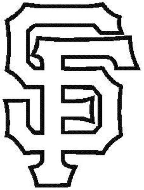 giants 20logo colouring pages