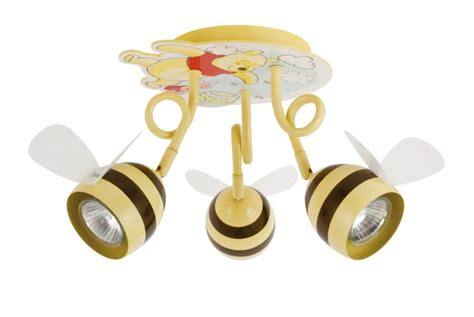 Winnie The Pooh Ceiling Light Disney Winnie The Poo Pooh Bumble Bee Child S 3 Ceiling Roof Spot Lights Wpf0045 Ebay
