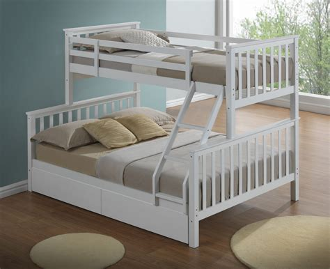 Bunk Bed For Three Modern 3 Sleeper White Childrens Bunk Bed Inc Drawers