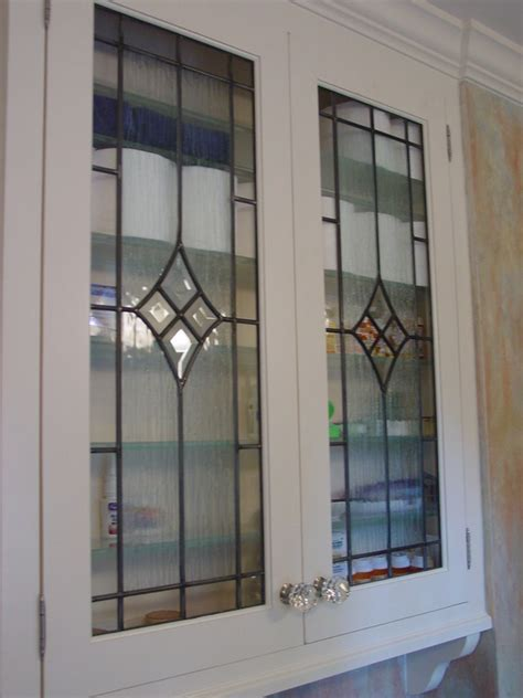 Cabinet Door Inserts Cabinet Doors Inserts Beveled Stained Glass Etched Glass Beveled Edges