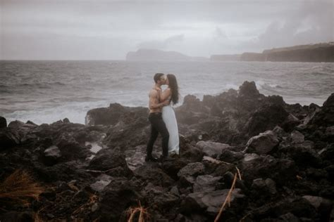 Sensual Island Couple Portraits in Portugal   Junebug Weddings