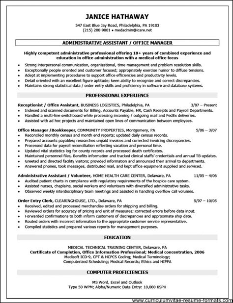 executive resume objective exles objective front office executive resume free sles