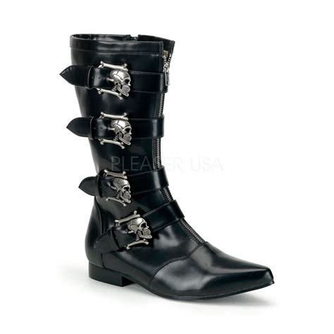 black mens steunk walking boots spats
