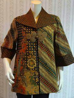Blus Pakaian Baju Muslim Wanita Blouse Button 3tone gambar baju muslim batik keluarga terbaru desain baju muslim terbaru