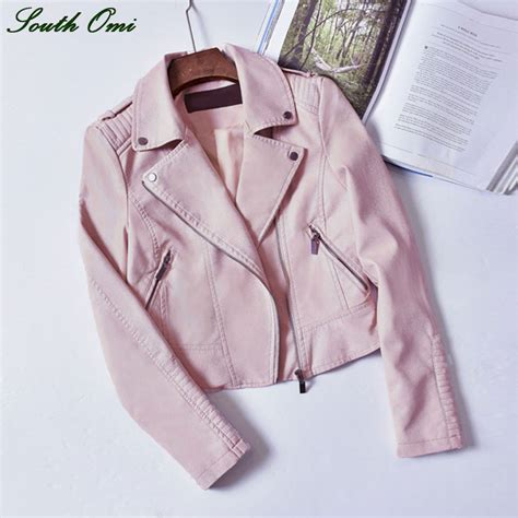 Parka Pink Mc T1310 2016 black pink leather jackets motorcycle jacket pu black