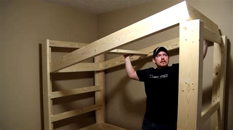 bunk bed frame plans build a bunk bed jays custom creations