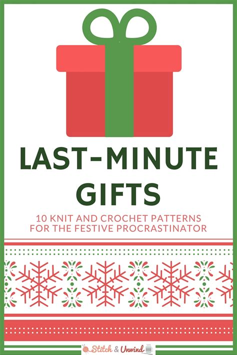 countdown to christmas 10 last minute gifts stitch and