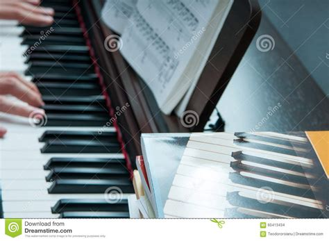 tutorial piano photograph piano lessons stock photo image 60413434