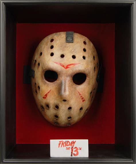 jason voorhees friday the 13th mask in wooden box at urban