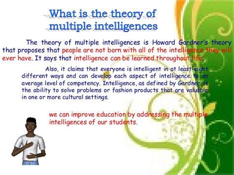 Howard Gardners Theory Of Intelligences Essay by Intelligences Essay