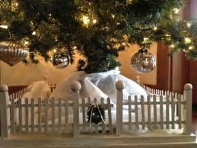 picket fence for christmas tree country design style