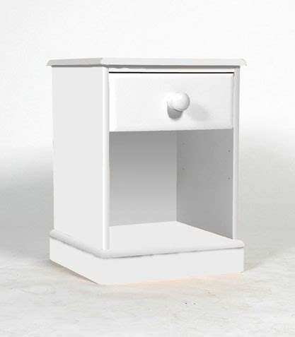 Large White Bedside Tables One Range 1 Drawer Bedside Table Oak Furniture Solutions